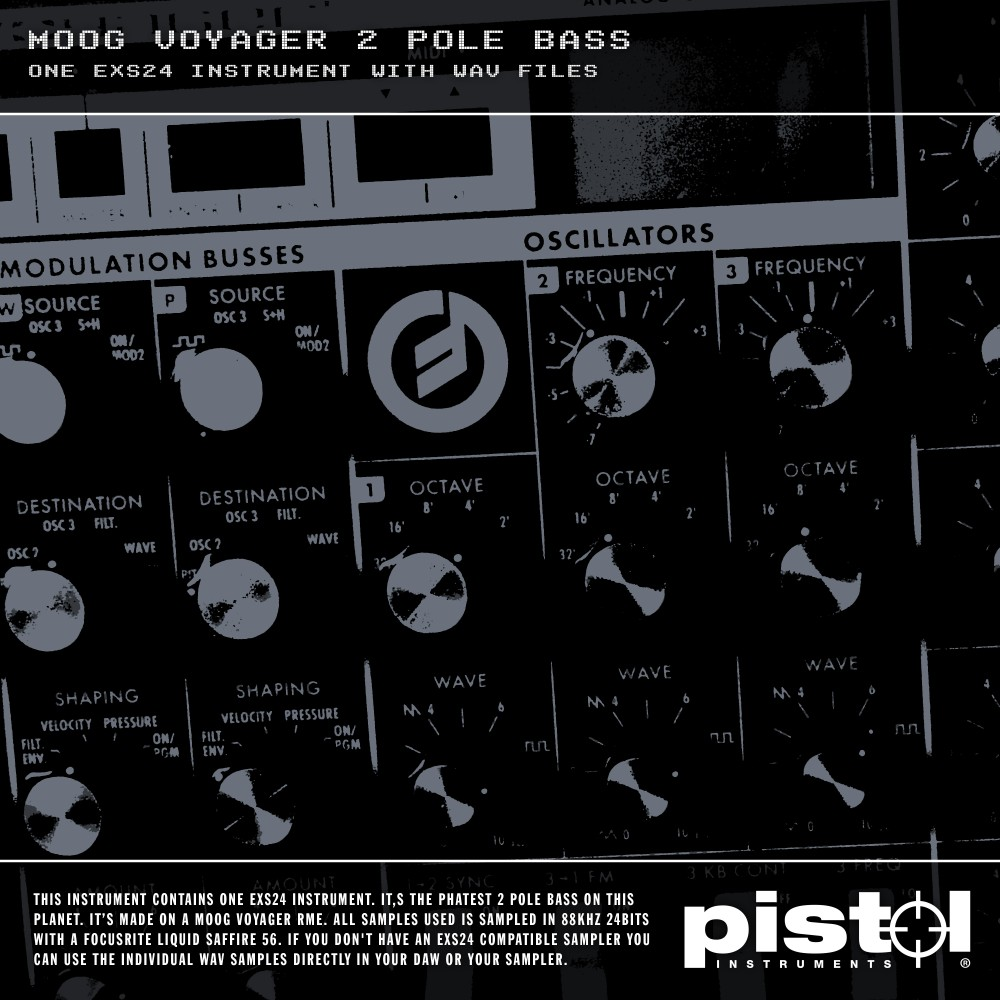 Pistol Instruments Moog Voyager 2 Pole Bass