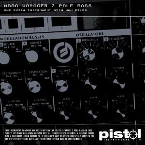 Pistol Instruments Moog Voyager 2 Pole Bass