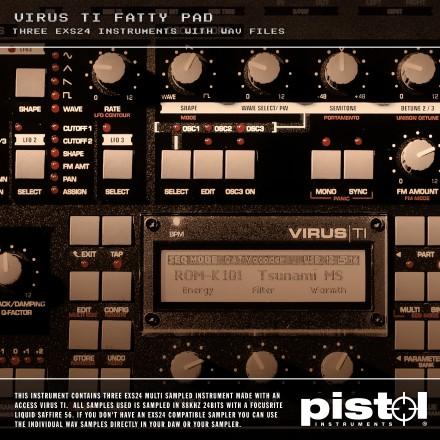 Pistol Instruments Virus Ti Fatty Pad