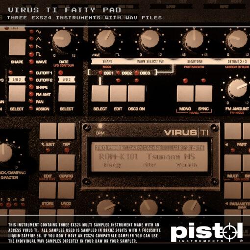 Pistol Instruments Virus Ti Fatty Pad